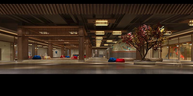 小伙伴就可以沿着这个韩国特色的楼梯到达汗蒸娱乐休闲大厅.